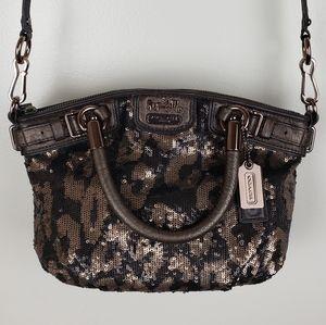 Coach Sophia Ocelot Leopard Sequin Handbag